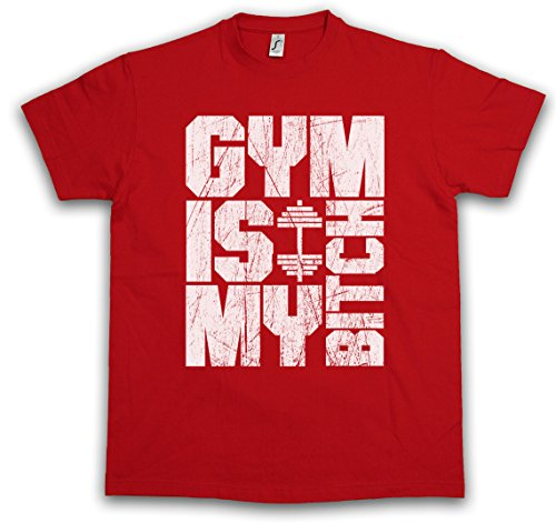 Urban Backwoods Gym Is My Bitch T-Shirt – Taglie S – 5XL Rosso