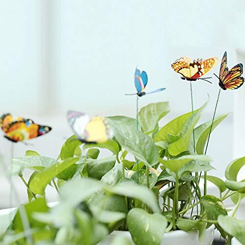 Sedeta 60 STÜCKE Zufällige Farbe 3D Schmetterling Weihnachten Garten Ornament Rasen Dekoration Stakes Außen Hof Pflanzer Blumentopf Bett Garten Decor Kunst DIY Frühling gefühl Kreative
