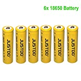 6x 18650 3000mAh 3.7V Ricaricabile Li-ion Batteria per LED Flashlight Torch torcia