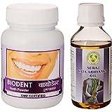 Suraj Bio Herbal Vata Abhyanga Oil - 100 Ml With Herbal Biodent - 50 G