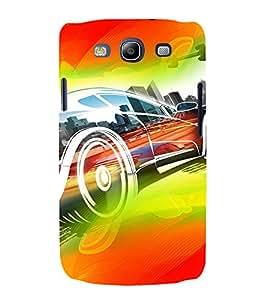 PrintVisa Race Car Art Modern Art 3D Hard Polycarbonate Designer Back Case Cover for Samsung Galaxy S3 Neo