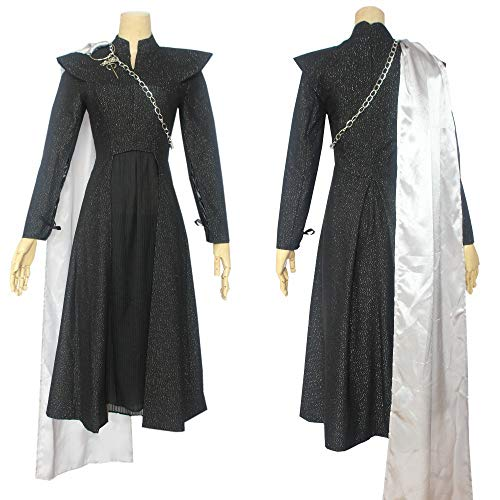 Of Frauen Game Kostüm Thrones - Drachen Mutter Game of Thrones Daenerys Targaryen schwarz Frauen Dress Cosplay kostüme Anzug EIS und Feuer lied cos Anime Movie Performance Clothing,XL