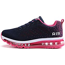 tqgold Chaussure de Sport Homme Femme Basket de Running Fitness Course Sneakers Basses Rose Taille 36