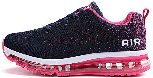 Unisex Uomo Donna Scarpe da Ginnastica Corsa Sportive Fitness Running Sneakers Basse Interior Casual all'Aperto (Rosa,38 EU)