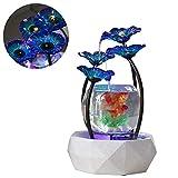 DJLOOKK Aquarium Fisch Tank Gold Fish Tank Vier Einzigartige Kreative Wasser Weg Wohnzimmer Kreative Kleine Wasser Ornamente Geeignet Für TV-Schränke, Desktop-Brunnen
