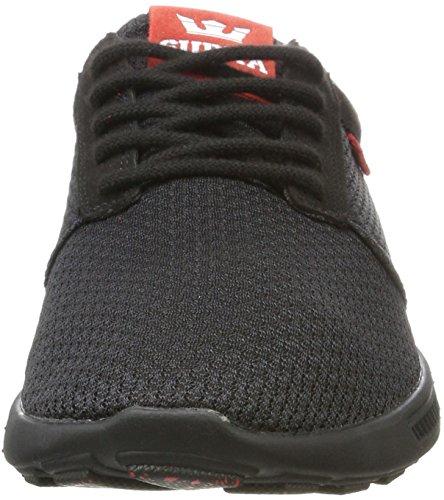 Supra Herren Hammer Run Sneaker Schwarz (Black-Risk Red)
