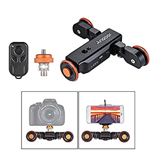 Andoer L4 Motorized Camera Slider Dolly Electric Slider Track + Remote + Rechargeable Battery + 3 Speed for Canon Nikon Sony DSLR Camera Video Photo
