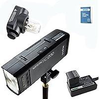 Godox AD200 Newest 2.4G TTL Pocket Flash Light 200Ws TTL HSS 1 / 8000s Flashlight Flash Lightning with Flash Lightning Head (GN52), Incandescent Lightning Head (GN60), 2900mAh Lithium Battery