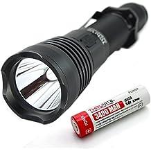 A través de Nite TC10 V2 900 lumens la linterna LED recargable con interfaz USB, cargador integrado con la linterna! TC10 V2 CW