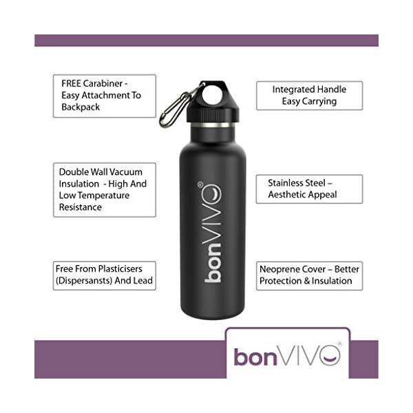 bonvivo B3 Borraccia Sportiva, Bottiglia Termica, Borraccia in Acciaio Inox - Borraccia Termica/Borraccia Termica in… 2 spesavip