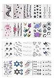 LILY20 impermeabile tatuaggio temporaneo stickerslatest nuovo design non tossico del nuovo maschio di rilascio, femmina star star falso tatuaggi temporanei