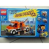 Lego Super Value Pack 4in1 City # bestehend aus Lego 7634 Traktor, 7241 Feuerwehrhauptmann, 7638 Abschleppwagen und 3177 Stadtflitzer - LEGO