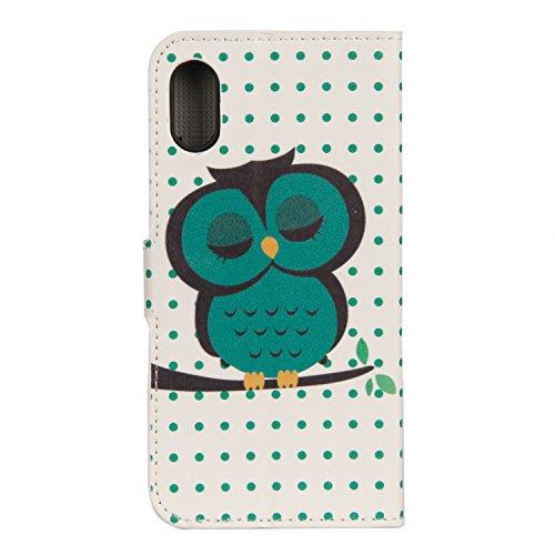 Coque pour iPhone X, Frlife | Housse en Cuir PU pour iPhone X Coque avec Étui en Silicone, Protection Complète pour Votre Téléphone Portable couleur 11