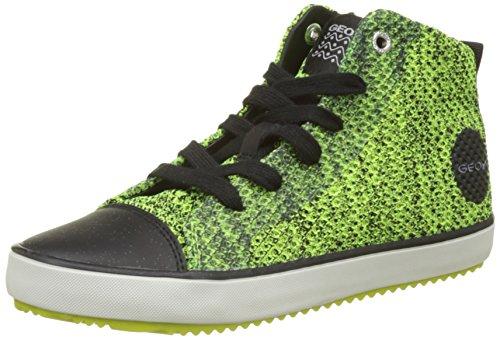 Geox Jungen J Alonisso Boy F Hohe Sneaker, Gelb (Lime/Black), 30 EU