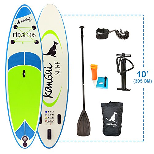Kangui - Stand up Paddle sup gonflable + pagaie + sac à dos + pompe haute pression + leash + kit de...