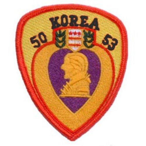 Korea Purple Heart Patch Red & Yellow 3 by FindingKing (Purple Heart Patch)
