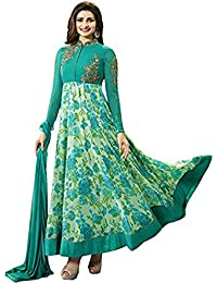 SOFTIEONS ECOMMERCE DRESS SALWAR GEORGETTE EMBRODERY WORK & PRINTED SEMI STITCHED SALWAR SUIT