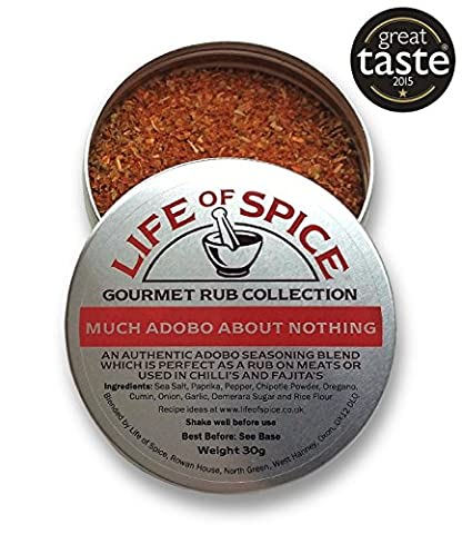 Much Adobo About Nothing - Life of Spice Gourmet BBQ Rub (30g) - Great Taste Award winner - Paprika, Chipotle and