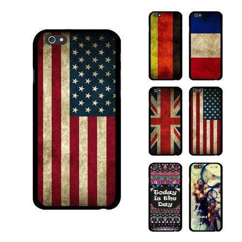 D9Q US UK DE FR Flagge Retro Fall zitiere Dreamcatcher Cover Protector für iPhone 6 !!Farbe 4