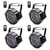 U`King Disco Lights, 4 Pack 36 LEDs Strobe Lights 7 Lighting Modes DJ