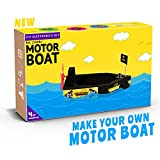 Be Cre8v Motor Boat DIY Kit (Black)