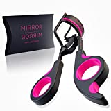 Eyelash Curler - by Mirror Mirror Beauty, The Best Eyelash Curler For Simple, Effective, Pinch & Pain Free Curling, Comes With Extra Refill Pad, & Travel Bag - Do You Want Longer More Dramatic Eyelashes. Quite Simply The Best Way To Enhance The Effect Of Top Quality Mascara - No Need For Extensions, Heated Eyelash Curlers Or False Eyelashes Get Yours Risk Free, Lifetime Money Back Guarantee Order Today Receive Tomorrow
