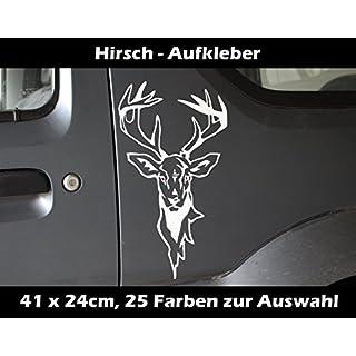 Finest-Folia Hirsch Aufkleber Keiler Treibjagd Wildsau Jagen Jäger Jagd Wildschwein KFZ Glas
