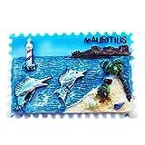 Swordfish - Imán de resina con sello de Mauricio 3D, para nevera, recuerdo, regalo de turismo, imán chino, hecho a mano, creativo, decoración del hogar y la cocina, adhesivo magnético