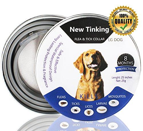 CRAZYBOY® Zeckenhalsband Hunde, Flohhalsband für Hunde, verstellbare und wasserdichte Hundehalsband - Floh Behandlung Zeckenschutz mit natürlichen ätherischen Ölen - Safe & Hypoallergen - Einheitsgröße