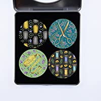 Pesos para patrones de costura. Juego de 4 diseños de costura para regalo (juego de 3) de Artist Catherine Rowe. Ideal para regalo. Inspirado en la abeja de costura BBC. (50 mm de diámetro)