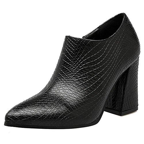 MissSaSa Donna Scarpe col Tacco Alto Fashion Shoes Stivali Sottile Nero