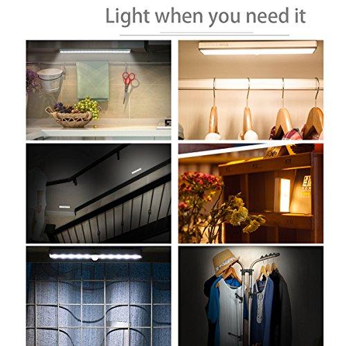 avaway drahtlose led lichtleiste unterbauleuchte k chen lampe schrankleuchte mit bewegungsmelder. Black Bedroom Furniture Sets. Home Design Ideas