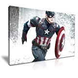 Avengers Captain America Movie Gespannte Leinwand Druck 76 cm x 50 cm