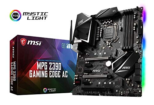 MSI MPG Z390 Gaming Edge AC, LGA 1151 Mainboard (DDR4, 2X Turbo M.2, 9x USB 3.1, 3X Gen2 und 6X Gen1, WLAN, BT) -