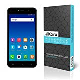 Kaira Gionee A1 Lite 0.26mm Thickness 2.5D Curved Edged Tempered Glass Screen Protector with Smooth Touch for Gionee A1 Lite [Smaller Due To Curve Edges]