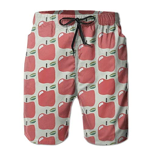 cleaer Apple Relaxed Men Summer Surfing Quick-Drying Swim Trunks Shorts Beach Pants with Pocket Small Jordan Mens Classic Fleece