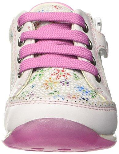 Geox B Each C, Chaussures Marche Bébé Fille Blanc (Whitec1000)