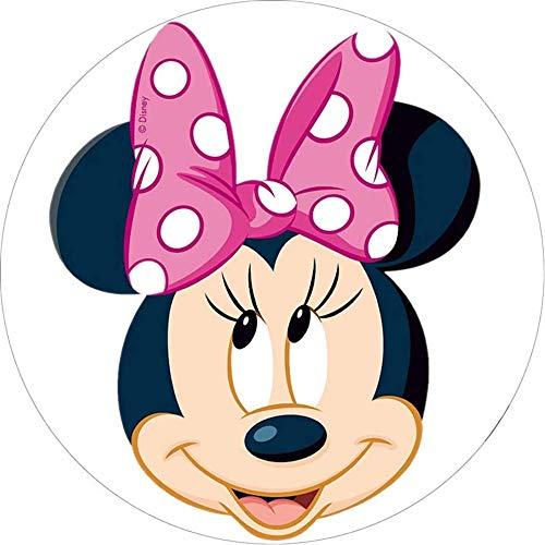 Minnie Mouse Runde Tortenaufleger 20CM - Geburtstag Tortenbild Zuckerbild Tortenplatte Oblate Kuchenzuckerplatte