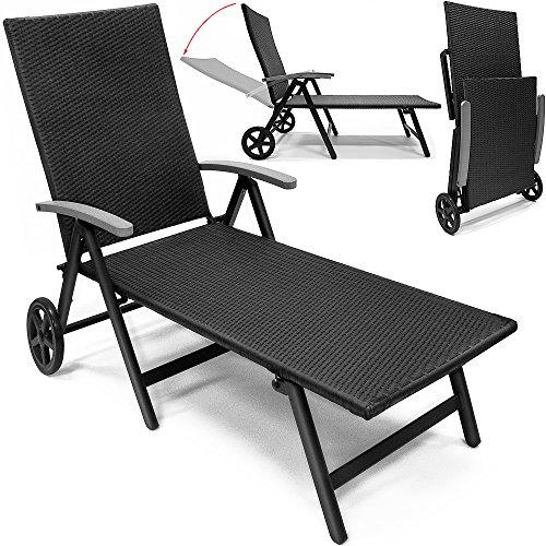 Transat-chaise-longue-en-aluminium-sur-2-roues-7-positions-pliable-Noir-jardin-terrasse