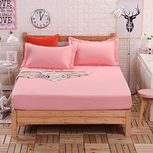 BBQBQ Matratzenbezug für Allergiker, Milbenbezug - Matratzenschutz, atmungsaktiv,Einzelstück Cover Cover - pink 135x200cm