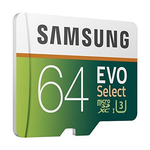 Samsung 64GB 100MB/s Evo Select Micro SDXC Memory Card (MB-ME64GA/EU)