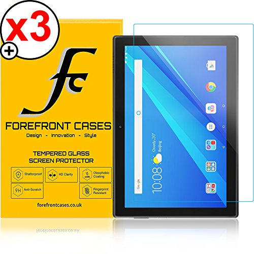 Forefront Cases Lenovo Tab 4 10 / Lenovo Tab4 10 [HD KLARHEIT] Gehärtetes Glas Panzerglas Folie Schutzfolie Screen Protector [Ultra DÜNN nur 0.3mm] (Packung mit 3)
