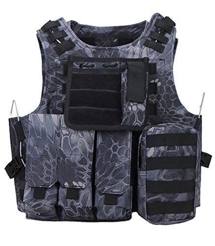 ThreeH Taktische Weste Modular Militärische Ausrüstung Feld Gaming Schutz Gilet für die Jagd Polizei SA0502A