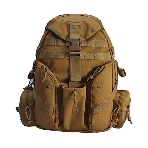 YAKEDA® Neue Ankunfts-45L Militärrucksack 600D Polyester-Gewebe Tactical Bag - A88047 (camouflage) braun