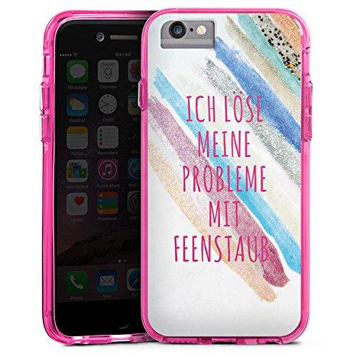 Apple iPhone X Bumper Hülle Bumper Case Glitzer Hülle Feenstaub Statements Sayings Bumper Case transparent pink