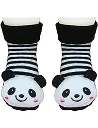 """DAS ORIGINAL BOMIO® 3D Antirutsch Babysöckchen mit verstellbarem Bund """"Panda"""", One size """"0-max. 12 Monate"""""""