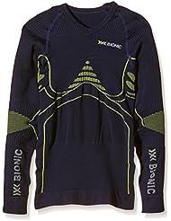 X-Bionic adultos EN función de la ropa de deporte para niños EN UW camiseta LG SL, primavera/verano, unisex, color Varios colores - Blue Marine/Yellow, tamaño 12/13