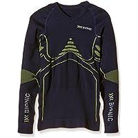 X-Bionic Adultos EN función de la Ropa de Deporte para niños EN UW Camiseta LG SL, Primavera/Verano, Unisex, Color Blue Marine/Yellow, tamaño 12/13