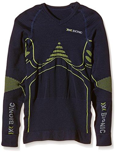 X-Bionic Erwachsene Funktionsbekleidung Junior EN Accumulator UW Shirt LG SL Blue Marine/Yellow 10/11