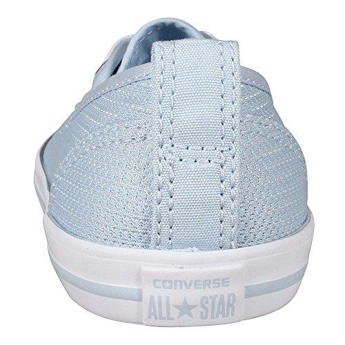 Converse Mandrini Ballerina 551656C grigio Dainty All Star Ballet Lace mouse Bianco Nero Porpoise White White